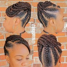 See 31 GORGEOUS braid hairstyles for Black women and kids. You'll get NEW ideas and updos for Black braided hair. Box braids hairstyles for girls & much more. Box Braids Hairstyles, Black Hair Updo Hairstyles, Natural Braided Hairstyles, Natural Hair Braids, Braided Hairstyles For Black Women, Braids For Black Hair, My Hairstyle, Evening Hairstyles, Hairstyles 2016