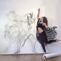 """thevisualvamp: """" turecepcja: """" Gouaches and charcoal drawings by Zarah Abraham Self-taught artist based in Germany and Ecuador. Follow her on Facebook. """" Art is sexy """""""