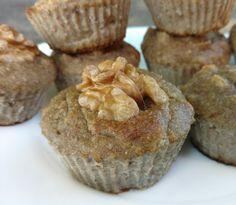 Flourless Paleo banana nut muffin cupcakes