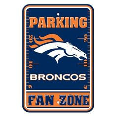 """Show your Broncos team spirit proudly with this 12"""" X 18"""" Denver Broncos Fan…"""
