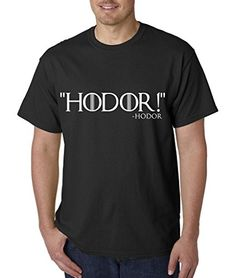 Hodor-Game of Thrones Inspired Men's Tee Shirt 4XL Black