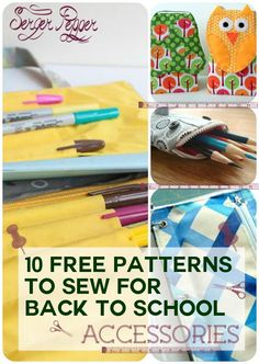 Serger Pepper 4 Craftsy - Back 2 school accessories round-up: I have to sew those 10 FREE patterns NOW! Plenty of tutorials for several sewing projects you can gift to your beloved ones (or keep for yourself!), maybe repurposing old bed sheets or clothes... on SergerPepper.com