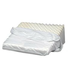 CONVOLUTED FOAM BED WEDGE. The unique foam wedge design that helps improve circulation while allowing the spinal cord to relax, easing back pain. Recommended by physicians for relief of hiatal hernias, respiratory problems and some circulation disorders. Helps maintain a comfortable body position, and ideal for lying on your side, or even as a trunk stabilizer. #foamfilled