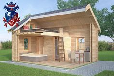 Micro Log cabins 611  Micro Log Cabin size - 4.0m x 5.7m Micro Logcabins size internal - 3.3m x 5.0m  Bedroom size - 2.1m x 2.8 Bathroom size - 1.1m x 1.8m Drawer size - 1.1m x 0.9m Kitchen size - 3.3m x 2.1m  Window Size - 6x 1130mm x 710mm Window Size - 3x 500mm x 500mm Windows size - 2x 850mm x 500mm (triangle)  Door Size - 1x 1930mm x 830mm Door size - 4x 1930mm x 650mm  Wall height - 2.5m Ridge height - 3.6m   www.logcabins.lv the number one in log cabins- Do not settle for less!