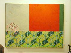 "Thomas Heger, ""Entwurf 1996"", Acryl auf Leinwand, ca. Breite 200x140 cm"