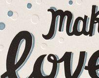 Make love. by Svetlana Lomakina, via Behance