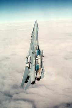 F-14 headed for heaven.