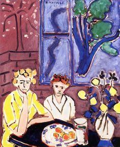 Two Girls, Blue Window / Henri Matisse - 1947