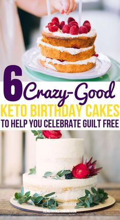 OMG, these keto birthday cake recipes are THE BEST! Now I can enjoy a delicious and moist cake guilt-free and stay in ketosis while enjoying sweets. Low carb&easy to make chocolate and vanilla cakes. Paleo Dessert, Keto Desserts, Keto Friendly Desserts, Dessert Recipes, Keto Birthday Cake, Birthday Desserts, Healthy Birthday Cakes, Cream Cheeses, Food Cakes