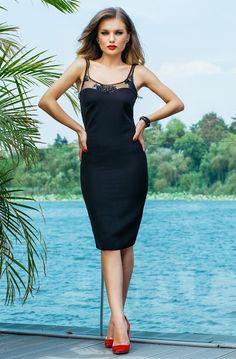 Fashion Trends Romania: Rochie Fely Neagra 2017 Fashion Trends, Romania, Dresses, Vestidos, Dress, Gown, Outfits, Trendy Fashion, Dressy Outfits