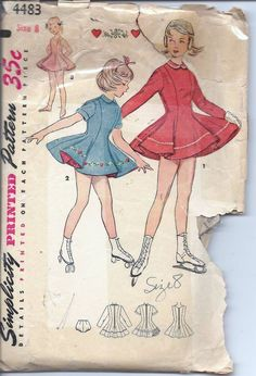 Simplicity 4483: vintage skating dresses make fantastic outfits for smaller girls.