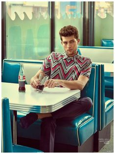 Model Paolo Anchisi has a time warp as he connects with GQ Brazil for the magazine's March 2015 issue. Following a modern outing with Ermenegildo Zegna, Paolo connects with photographer Greg Swales and stylist Antonio Branco for a retro inspired twist on spring fashions. Heading outdoors for a stylish outing, Paolo charms in standout fashions from labels that include Gucci, Louis Vuitton and Burberry Prorsum. Pages: 1