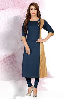 Plain Kurti Designs, Kurta Designs Women, Kurti Sleeves Design, Kurta Neck Design, Churidar Neck Designs, Salwar Designs, Designer Kurtis, Designer Dresses, Trendy Kurti