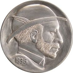 The Original Hobo Nickel Society Hobo Nickel, Bearded Men, Buffalo, Derby, Classic Style, Coins, Auction, Carving, Profile