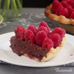 A yummy tart with fresh raspberries and chocolate ganache is the stuff of summer dreams.