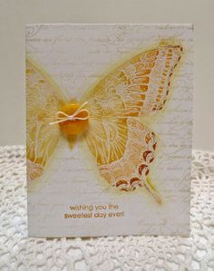 Stampin' Up! Swallowtail on En Francais handmade butterfly card