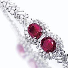 CARTIER Ruby and diamond bracelet, Cartier, circa 1935 | Lot | Sotheby's