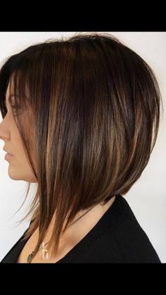 60 Chocolate Brown for Brunettes hair Hair inverted bob hair color ideas - Hair Color Ideas Inverted Bob Haircuts, Angled Bob Hairstyles, Bob Haircuts For Women, Medium Bob Haircuts, Hairstyles Haircuts, Edgy Haircuts, Longer Bob Hairstyles, Double Chin Hairstyles, Bob Haircut For Fine Hair