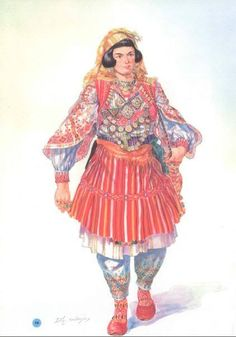Albanian zadrima bride's dress. The costume, embroidered with exceptional rare skill, appears to be like an entire museum.