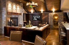 luxury basement designs | Klaff's Fixtures for Basement Lighting: Pendants, Spots, Track ...