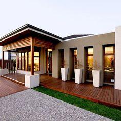 Orbit Homes Oasis 33 - Daintree Facade (Rear Loaded Garage Option). Dream Home Design, Modern House Design, My Dream Home, Style At Home, Rendered Houses, Kb Homes, House Entrance, Facade House, New Homes For Sale
