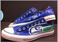 Seahawks converse shoes
