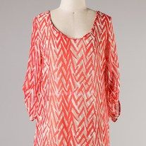 $25.00    Quarter sleeve printed top  100% Polyester.   Made in USA