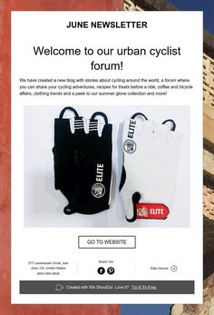 JUNE NEWSLETTER    Welcome to our urban cyclist forum!