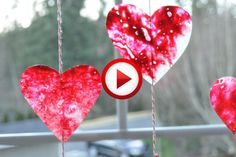 Homemade Valentines: Stained Glass Hearts Video #Valentines, #pinsland, #yangutu, #videobox, #howto, https://apps.facebook.com/yangutu