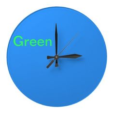 Blue and green clock