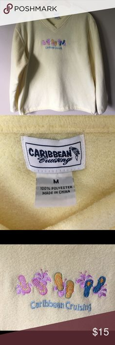 """""""Caribbean cruising"""" yellow fleece pullover Caribbean cruising yellow pull over is perfect for those chili days and keep your mind in that warm sunny spot… """"Salt life"""" Caribbean cruising Sweaters V-Necks"""