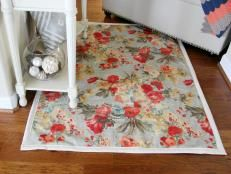 Make a rug from upholstery fabric >> http://www.diynetwork.com/how-to/make-and-decorate/decorating/diy-wall-art-and-budget-decorating-pictures?soc=pinterest