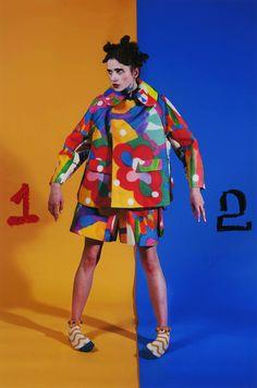 SS15 Fashion Prints, Fashion Art, High Fashion, Fashion Design, Pop Fashion, Weird Fashion, Colorful Fashion, The Rite Of Spring, Angel Chen