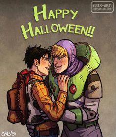 Wiccan as Woody and Hulkling as Buzz