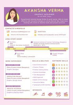Personal Branding Examples, Job Resume Examples, Job Resume Template, Resume Design Template, Graphic Design Resume, Graphic Design Tutorials, Creative Resume, Creative Cv Design, Portfolio Design Grafico
