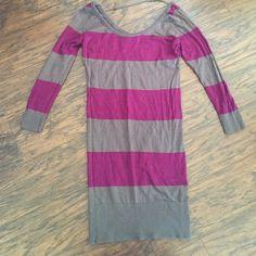 Purple and grey striped sweater dress xs Purple and grey striped sweater dress xs Dresses