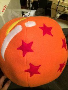 Dragonball Z sphere pillow by EwokShop on Etsy, $25.00