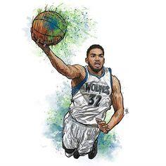 Basketball Art, Basketball Shirts, Sports Drawings, Nba Live, Nba Fashion, Nba Wallpapers, Minnesota Timberwolves, Ipad Art, Basketball