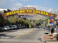 The Welcome Sign in Golden, Colorado