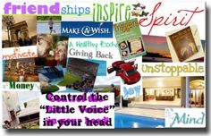 vision boards love them and pinterest for the virtual vision boards