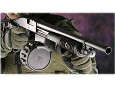 Knoxx Sidewinder Shotgun Conversion Kit with 10-Round Drum Magazine Maverick 88, Mossberg 500, 590, 590A1 Composite and Steel Black