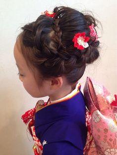 2015 女の子の七五三ヘアスタイル画像集(髪型 可愛ブログ 流行 ブログ 7歳 5歳 3歳 - NAVER まとめ