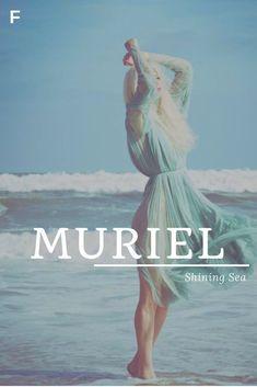 Names - Muriel - shining sea - Baby Showers ,  #Baby #Muriel #names #Sea #Shinin...#baby #muriel #names #sea #shinin #shining #showers Trendy Baby Girl Names, Strong Baby Names, Unisex Baby Names, Cute Baby Names, Greek Names For Girls, Names Girl, Irish Girl Names, Irish Girls, Female Character Names
