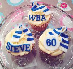 Personalised Football Cupcakes.
