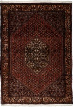 "Bidjar Rust Classic Medallion Carpet CS-M980875170 X 118 Cm. (5'6"" X 3'9"" Ft.) - Carpetsanta"