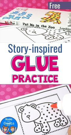 Preschoolers and kindergartners will love this free glue dot worksheet. Even better, it's a story extension activity for Put Me in the Zoo!