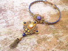 Zafron+Soutache+Necklace+by+ZoojaDesign+on+Etsy,+$150.00