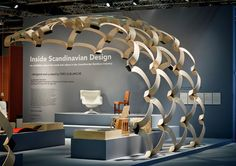 These curved scandinavian structure could totally be used as a screen for a luxury retail design concept to separate clothes and accessories.
