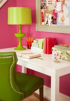 <3 the chair shape!!!  I could even do a PINK home office!  I need a girly place
