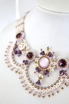 Tutorial for beadwoven necklace 'Aurora' PDF by TrinketsBeadwork